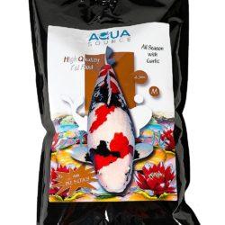 aquasource all season with garlic koi food